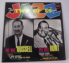 """PEE WEE RUSSELL & HUNT : THE TWO OF US AND JAZZ Album Vinyl LP 12"""" MONO EX"""