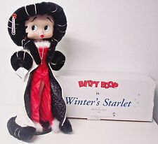 "Betty Boop ""Winters Starlet"" 2007 30"" Collector Doll Danbury Mint Red Dress Fur"