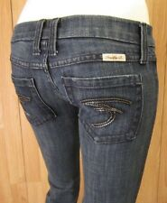 AUTH. FRANKIE B CHAIN LINK F POCKET BOOT CUT WOMEN JEANS SZ 2 X 29.5 VIC-THOR1