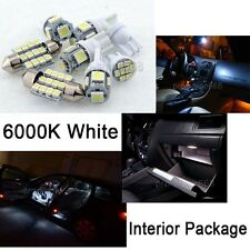 7x Xenon White SMD LED Interior Bulbs Kit License Plate Lights For Pontiac G8 KP