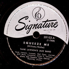 Yank Lawson 's Jazz Band squeeze me/the sheik of Araby gomme laque plaque x2720