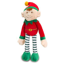 Noël grosses elf on the shelf 12cm jouet doux velcro suspension 25cm de long rouge
