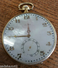 ANTIQUE 18K GOLD ZENITH POCKET WATCH SWISS MADE 275228 - PRE OWNED
