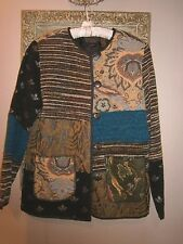 ALEX KIM Artsy BOHO Jacket TOP~NWT~Nothing Matches India TAPESTRY~No collar~S