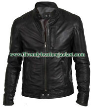 Men's Biker Hunt Black 100% Real Leather Jacket