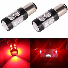 JDM ASTAR 2x 50W Super Pure Red 1157 7528 BAY15D Brake Tail Stop LED Lights Bulb