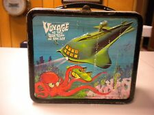 VINTAGE 1967 ALADDIN VOYAGE TO THE BOTTOM OF THE SEA LUNCHBOX & THERMOS VG+/VG+