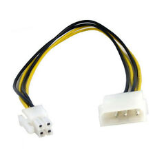 "10"" Inch 25cm Molex to 4pin ATX Female Power Cable Cord Adapter"