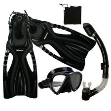 Snorkeling Spearfishing Dive Mask Snorkel Fins Gear Set