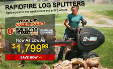 New DR Rapid Fire Log Splitter / WORLDS FASTEST SPLITTER / W 6 HP SUBARU ,E.S.