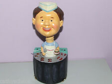The Chef Wine Bobble Head Cork Bottle Stopper Burger King of Grill Holiday Gift