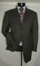 Faconnable Olive Three buttons Dual Vents Herringbone Men Jacket 40 R Italy