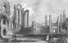 Scotland, Red Sandstone ARBROATH ABBEY ~ 1840 Architecture Art Print Engraving