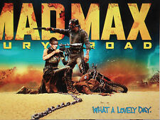 MAD MAX 24X36 POSTER MOVIE ACTION FILM FUTURE DESERT TOM HARDYCHARLIZE THERON!!!