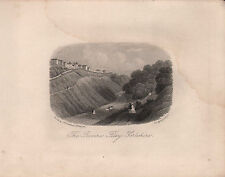 1872 VICTORIAN DATED FILEY PRINT ~ THE RAVINE FILEY YORKSHIRE