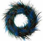 """12"""" Feather Wreath Green Wall Door Christmas Holiday Tabletop Home Decor 116Mx"""