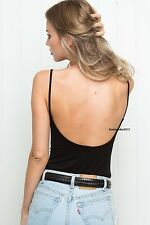 Last one! brandy melville black cropped ribbed scoopback avery tank top NWT S/M