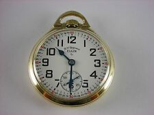 Antique Elgin 571 16s hi-grade 21 jewel Railroad pocket watch Gold filled case.