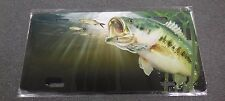 SALTY BONES LARGE MOUTH BASS LICENSE PLATE TAG T2482BO