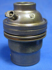 Standard bayonet brass bulb holder half inch 'Old English' finish