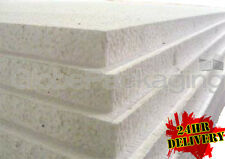 """6 x EXPANDED 2"""" POLYSTYRENE FOAM SHEETS 2400x1200x50mm"""