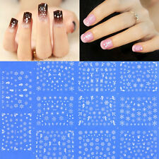 11 Mini Sheets Nail Art 3D Stickers Snowflake Manicure Tip Decal Decor Xmas Gift