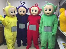 SET Of 4 Teletubby Teletubbies Cartoon Adult Mascot Costume Compete Outfit