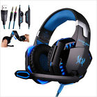 Gaming Headset Surround Stereo Headband Headphone 3.5mm LED With Mic For PC