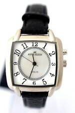 ANNE KLEIN 10/9165MPBI Black Leather Mother of Pearl Dial RETAIL $75