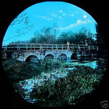 HAND COLOURED Glass Magic Lantern Slide RIVER THAMES NO2 C1890 PHOTO ENGLAND
