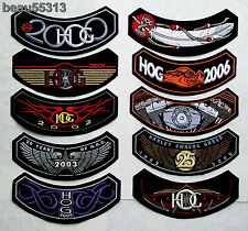 10 HARLEY DAVIDSON OWNERS GROUP HOG YEARS 2000 THROUGH 2009 VEST JACKET PATCH