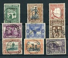 Sierra Leone KGV 1933 Wilberforce short set to 1/- SG168/76 ex-album fine used
