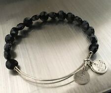 Pre-owned Alex and Ani Black Glass Bead Bangle Vintage