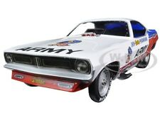 DON PRUDHOMME ARMY 1973 PLYMOUTH CUDA FUNNY CAR LTD 1002PC 1/18 AUTOWORLD AW1170