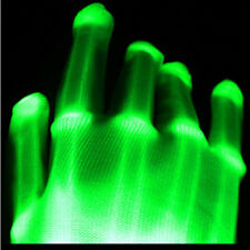HOT! GREEN Electro Skeleton LED Rave Raver Dance Gloves Rave Party Flashing Fun~