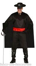 Hommes Bandit Zorro TV Film Héros Villain Voleur Costume Déguisement Grand