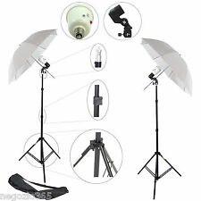 Kit 2x Illuminatore Flash Con Cavalletto Stativo Portalampada Lampada Ombrello
