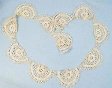Vintage Irish Crochet Lace Trim 28 inches Floral Scalloped Dainty Clothing