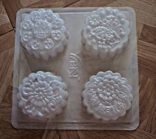 4 Chinese Mooncake Jello Steam Pudding Dessert Plastic Mold