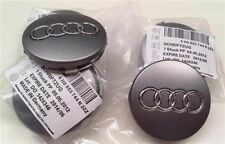 (4pcs) 2000-2015 Audi 60mm Gray Center Caps Wheel Hub Caps Fits: ALL MODELS