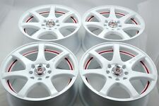 15 Drift white wheels rims Del Sol Integra Accent Yaris Aveo Civic 4x100 4x114.3
