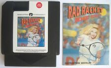 Rad Racket Deluxe Tennis II with Manual Nintendo NES Rare AVE Game Fast Shipping