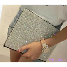 Luxury Super Bling Diamond Pu Leather Stand Case Cover For The iPad Air 2 6th