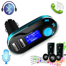 Bluetooth Car Kit MP3 Player FM Transmitters SD LCD Dual USB Charger W/ Remote