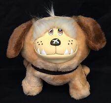 "Emotions Mattel Puppy Dog Vinyl Face 9"" Plush Peach Stuffed Animal Vintage 1984"