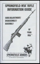 HQ Copy* Springfield Armory M1A Rifle Information Guide & Illustrated Parts List