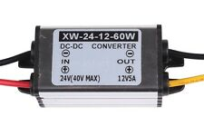 Waterproof 24V(14-40V) To 12V 5A 60W DC/DC Converter Regulator Tool - UK Seller