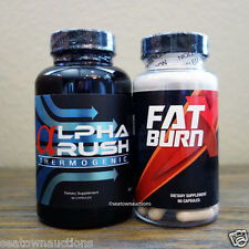 Alpha Rush Thermogenic + Fat Burn X Combo Pack Stack New Sealed
