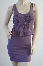TOPSHOP Limited Collection Purple Lace Peplum Fitted Dress Size 8 NEW £38 PR14