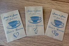 10 Personalised Wedding Envelopes Holders Tea bag Love Is Brewing Favours